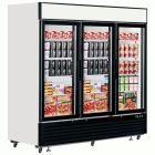 Glass Door Display Freezer 3 Door 208cm - 2050Ltr