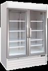 Upright Two Glass Door Freezer Soli 137cm 4ft