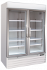 Upright Two Glass Door Freezer Soli 137cm 4ft