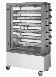 Chicken Rotisserie Gas Broiler Machine 6 Spits 36 Chicken MCM