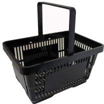 Black Plastic Shopping Baskets 28L