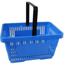 Blue Plastic Shopping Baskets 28L
