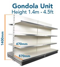 Gondola Unit 140cm x Base 57cm