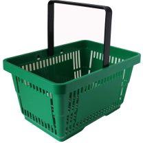 Green Plastic Shopping Baskets 28L