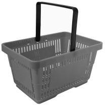 Grey Plastic Shopping Baskets 28L