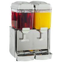 Stainless Steel Milk or Juice Dispenser 2 x 12 Litre (24 litre)
