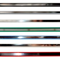 Pack of 12 Mirror Slatwall Clip-in Insert