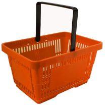 Orange Plastic Shopping Baskets 28L