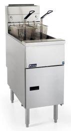Pitco Single Tank Twin Basket Free Standing Natural Gas Fryer CE-SG14