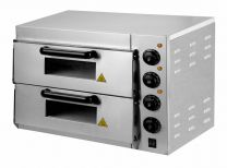"""Pizza Oven Twin Deck Chamber 2 x 16"""""""