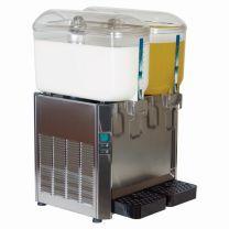 Italian Stainless Steel Milk or Juice Dispenser 2 x 12 Litre (24 litre)