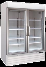 Upright Two Glass Door Freezer Soli 137cm 4ft - 1079 Litre
