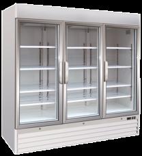 Upright Three Glass Door Freezer Soli 205cm 7ft - 1547 Litre