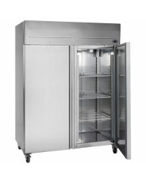 Stainless Steel 2 Door Gastronorm Upright Freezer (5ft - 1410ltr)