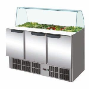 Curved Glass Stainless Steel Countertop Bury Range 136cm