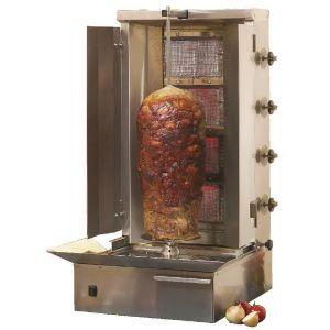 4 Burner LPG Gas Gyros or Kebab Grill 14kW
