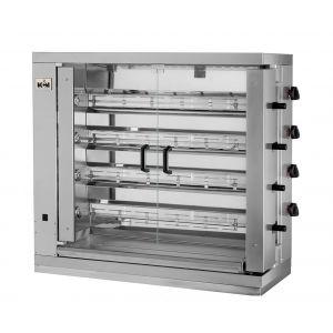 Chicken Rotisserie Gas broiler Machine 4 spits 24 chicken MCM