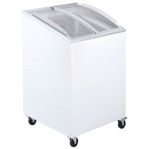Sliding Curved Glass Lid Ice Cream Chest Freezer 57cm - 85 Litre