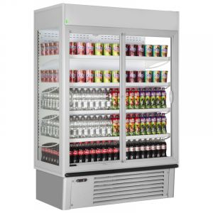 Wall Site Multideck Chiller With Doors 100cm (3.2ft) - 601 Litre