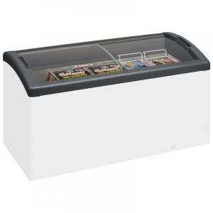 Sliding Curved Glass Lid Chest Freezer ICY 151cm - 418 Litre
