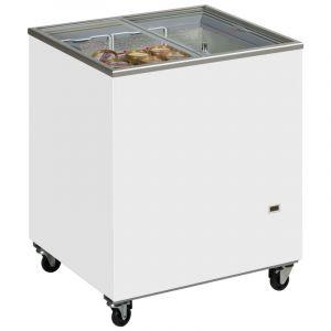 Sliding Flat Glass Lid Chest Freezer ICY 72cm - 165 Litre