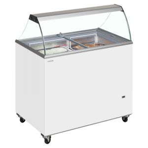 Scoop Ice Cream Display 130cm - 10 Tub