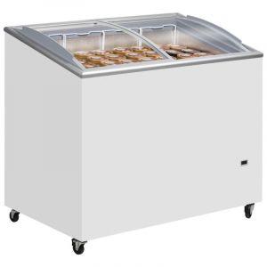 Sliding Curved Glass Lid Ice Cream Chest Freezer 101cm - 230 Litre