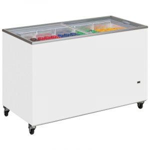 Sliding Flat Glass Lid Chest Freezer ICY 130cm - 350 Litre