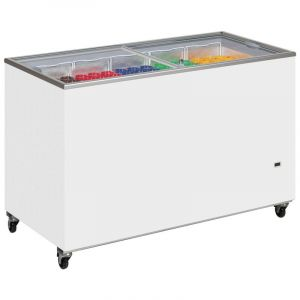 Sliding Flat Glass Lid Chest Freezer ICY 155cm - 430 Litre