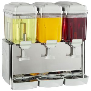 Stainless Steel Milk or Juice Dispenser 3 x 12 Litre (36 Litre)