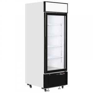 White Single Glass Door Merchandiser Chiller 69cm - 2.2ft - 496Litre