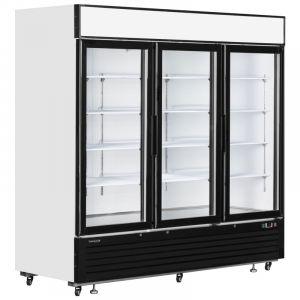 White Triple Glass Door Merchandiser Chiller 208cm - 6.8ft - 2050Litre