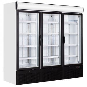 Glass Door Display Freezer 3 Door 205cm - 2050Ltr