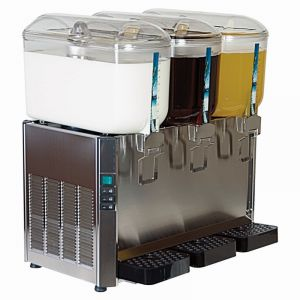 Italian Stainless Steel Milk or Juice Dispenser 3 x 12 Litre (36 litre)